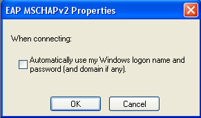 Screenshot: The 'EAP MSCHAPv2 Properties' window