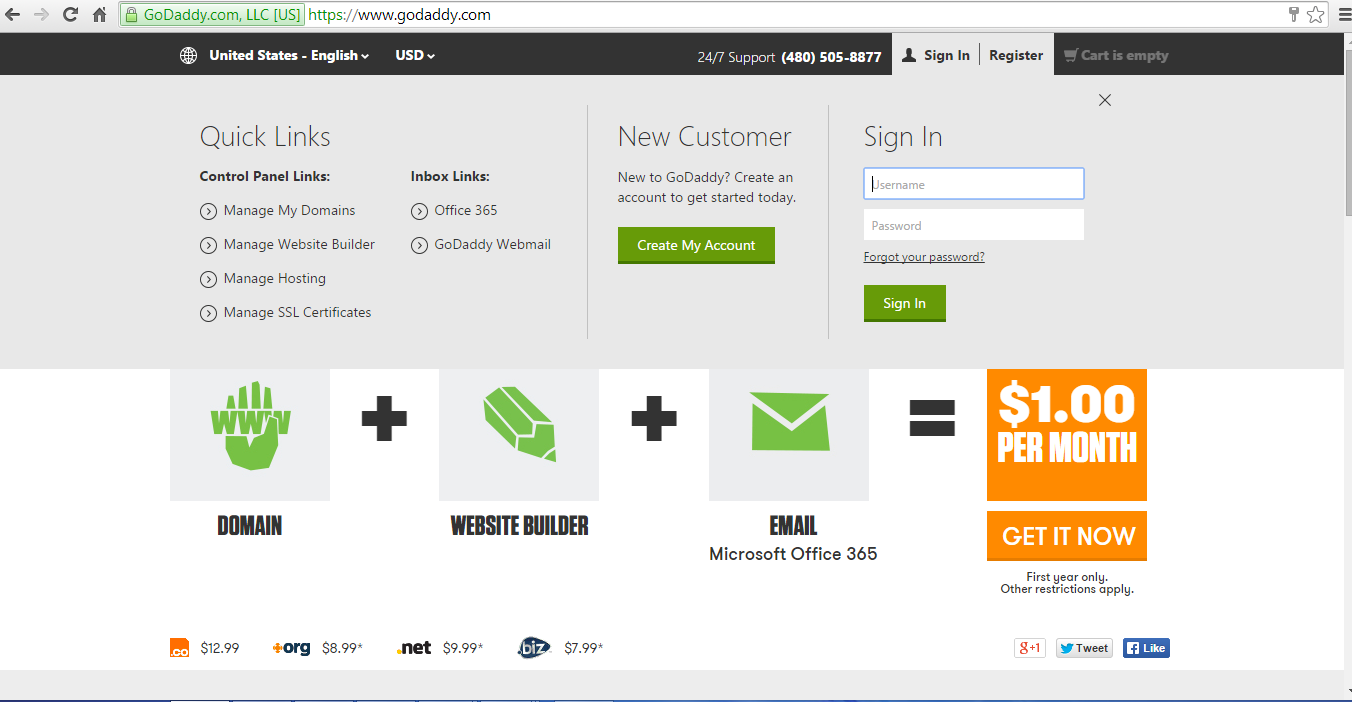 GoDaddy Home Page.PNG